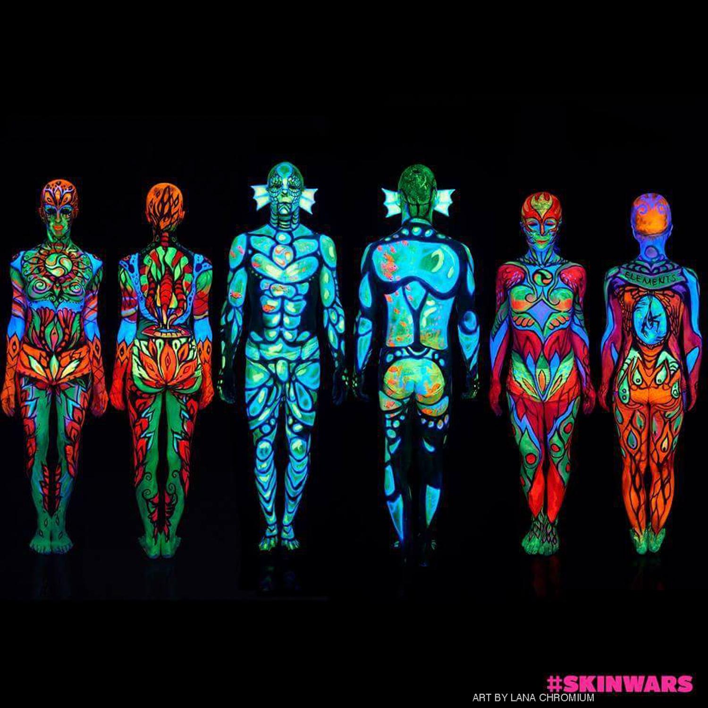 Uv Bodypainting Bodypainting And Fine Art By Lana Chromium
