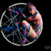 Lana Chromium body painting aerial hoop contortion Anna Yanushkevich