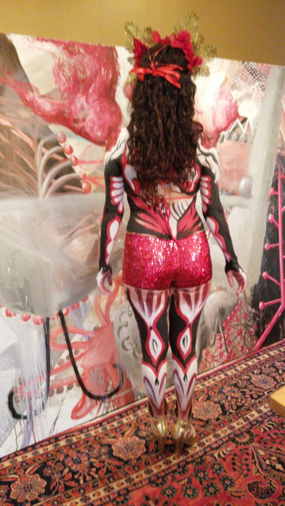 Lana Chromium bodypainted model & dancer Marissa Sambista Serrano for afterhours LUX MUSEUM event in  Encinitas California
