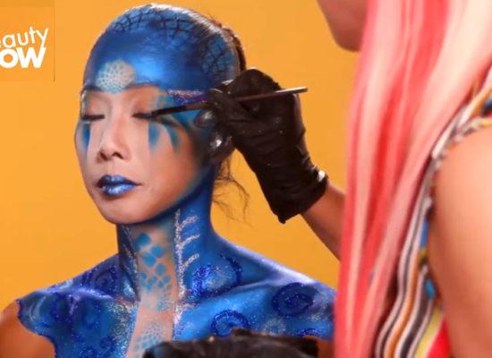 GLAM FESTIVAL MAKEUP LOOKS by lana Chromium | San Diego bodypainter and makeup artist near me
