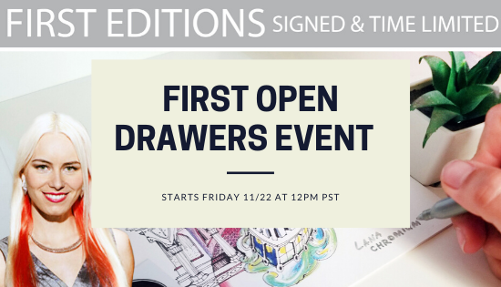 FIRST OPEN DRAWERS EVENT – STARTS FRIDAY 11/22 AT 12PM PST Final Stock Of Previously Sold Out Signed & Limited First Edition Prints WIll Be Available to Order.  Available To Order On November 22ns. Only While Supplies Last