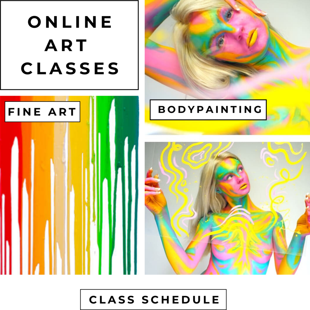 Online art classes with San Diego artist Lana Chromium. Lana Chromium Skin Wars winner will teach you how to paint with watercolors, oils, acrylics, ink, drawing and also art of bodypainting in easy step by step practice classes. Online art course for professionals & beginners. ONLINE ART AND BODYART ART CLASS WITH LANA
