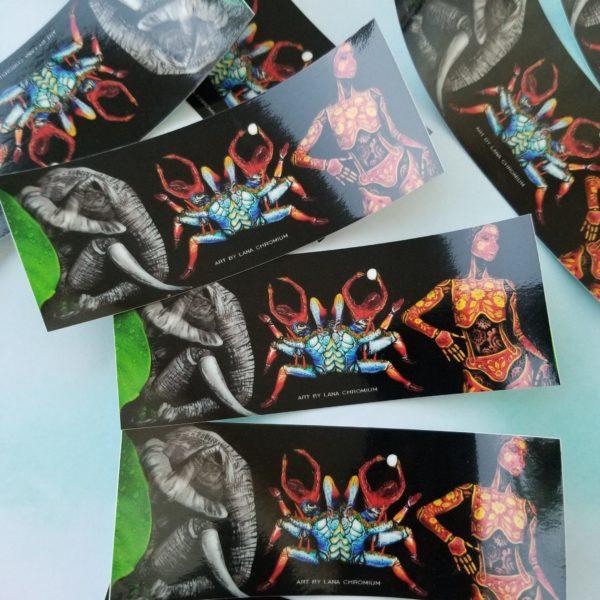 Signature Sticker - Lana Chromium Studio sticker - San Diego makeup artist and bodypainter - Skin Wars Lana - Lana Chromium shop - Crab bodyart - Elephant bodypainting