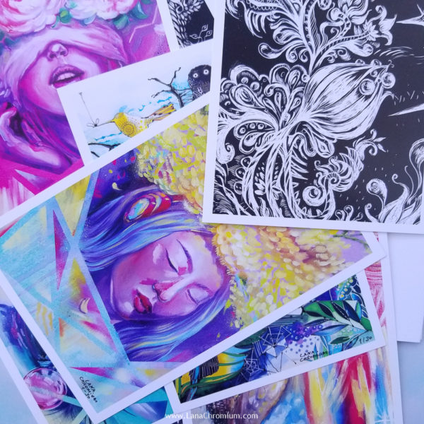 """painting - SET INCLUDE 2 PRINTS + FREE STICKER Fine Art Print """"CONNECTION"""" - 6"""" x 9"""" print on paper. Fine Art Print """"MERMAID"""" - 6"""" x 9"""" print on paper. Lana Chromium's Waterproof Sticker Original Art Print, Watercolour set prints, Set of 2 Prints, Scandinavian Art, Mountain Print, Canvas Wall Art, Canvas Print, Canvas Art Print set of 2 MERMAZING Mermaids Themed Artwork - Lana Chromium Studio - Online SHOP - Art Prints, Original Paintings, Stickers, and more! painting in watercolors, oils, acrylic for sale. Perfect wall art and decor ideas for your house. CUSTOM SET: MAKE YOUR OWN SET INCLUDE 2 PRINTS + FREE STICKER Your choice 6"""" x 9"""" print on paper. Your choice 6"""" x 9"""" print on paper. Lana Chromium's Waterproof Sticker"""